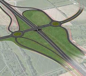 RD 767 : Déviation de Locminé - Sivia à 2x2 voies