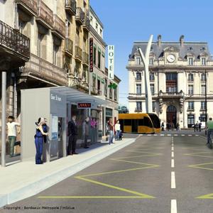 Projet : Création d'une ligne BHNS entre Bordeaux-centre et Saint-Aubain-de-Medoc  (33)