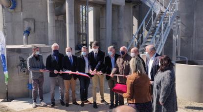 Actualité : Inauguration de la station d'épuration de Châteauneuf de Gadagne
