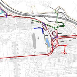 projet : aéroport Roissy / Charles de Gaulles, reconfiguration des accès routiers