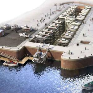 projet : création d'un port à sec dans la forme de Radoub à Dieppe (76)