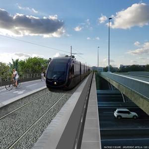 Projet : Amélioration de la desserte par le tramway à Mérignac (33)