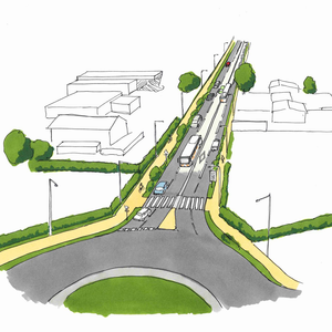 Projet : aménagement de voies en Gironde