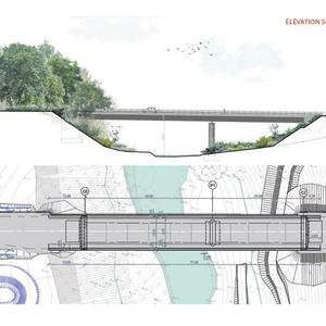 """Projet : réalisation du viaduc sur la rivière """"Deux Evailles"""" à Montsûrs (53)"""
