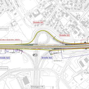 Projet : A360 - Mise à 2x3 voies entre les échangeurs 4 et 10 avec deux arrêts transports en commun en rive de rocade à Mérignac (33)