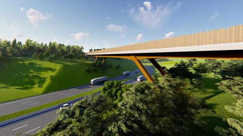 Actualité : franchissement de l'A20 entre Bastide et le Puy Ponchet à Limoges