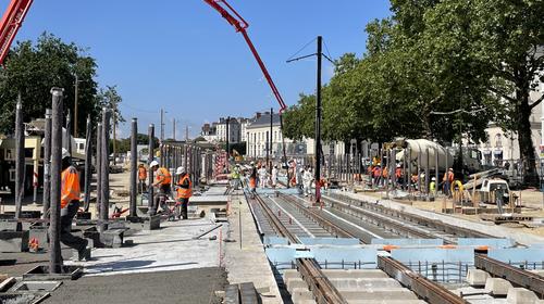 Actualité : Tramway Nantes : modernisation de la station Commerce